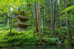 Japończyka ogród w Zen stylu Zdjęcia Stock