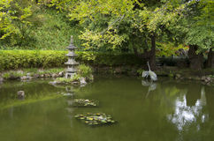 japończyka ogrodowy staw Zdjęcia Stock