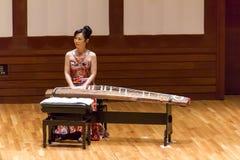 Japończyka Tanabata koncert Z Koto instrumentem Zdjęcia Stock