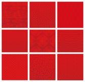 Japońscy czerwoni tradycyjni wzory Zdjęcie Royalty Free