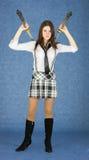 japońscy dziewczyna kordziki dwa Zdjęcie Stock