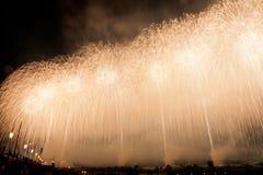 Japońscy fajerwerki w lato festiwalu, Nagaoka miasto, Niigata pref Fotografia Stock