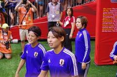 Japońscy kobieta gracze futbolu Fotografia Royalty Free