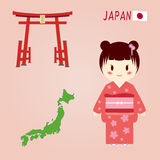 japońscy znaków Fotografia Stock