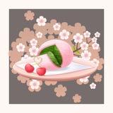 Japońska cukierki wiosna ilustracji