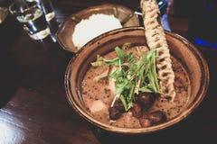 Japońska curry polewka Obrazy Stock