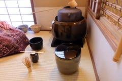 Japońska herbaciana ceremonia Zdjęcie Royalty Free