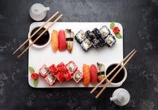 Japońska kuchnia azjatykci jedzenie Suszi Zdjęcia Stock