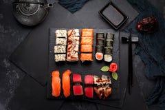 Japońska kuchnia azjatykci jedzenie Suszi Zdjęcie Stock