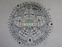 Japońska Manhole pokrywa Obraz Royalty Free
