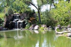 japońska ogrodowa wodospadu Obraz Royalty Free