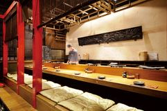 japońska restauracja Fotografia Royalty Free