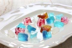 Japoński agar galarety cukierki Zdjęcia Royalty Free