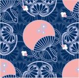 japoński bezszwowy Oriental deseniowy Zdjęcie Stock
