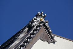 Japoński Dachówkowy dach Obrazy Stock