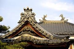 Japoński Dachówkowy dach Fotografia Stock