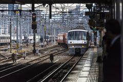 Japoński dworzec Hakata przy Fukuoka obrazy stock
