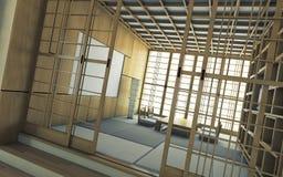 Japoński herbaciany teren Zdjęcia Royalty Free