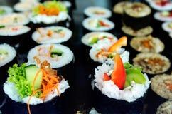 Japoński jedzenie - suszi Zdjęcia Stock