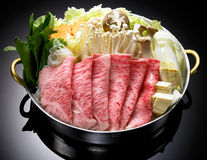 Japoński karmowy shabu Obrazy Royalty Free