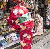 Japoński kobieta zakupy Zdjęcia Stock