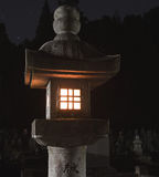 Japoński lampion w nocy Obrazy Stock