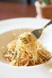 Japoński makaronu Mentaiko spaghetti Obraz Royalty Free