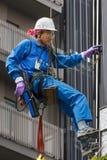 Japoński Nadokienny Cleaner w Tokio Zdjęcie Stock