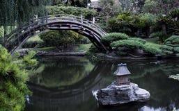 japoński ogród na most Obrazy Royalty Free