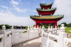 Japoński Pagodowy Zen ogród Zdjęcia Stock