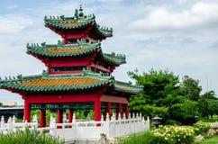 Japoński Pagodowy Zen ogród Fotografia Royalty Free