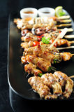 japoński set skewered yakitori Fotografia Royalty Free