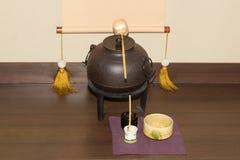 Japoński stary herbaciany producent Obraz Royalty Free