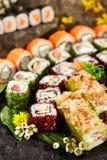 Japoński suszi set Zdjęcie Royalty Free