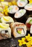Japoński suszi set Fotografia Royalty Free