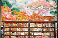 Japoński tradycyjny Pisze Kyoto Japonia, LISTOPAD - 25, 2016 - Fotografia Royalty Free