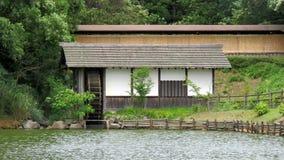 Japoński Waterwheel w Matsue Vogel parku Zdjęcia Stock