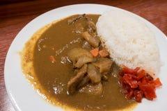 Japoński wieprzowina curry Zdjęcia Royalty Free