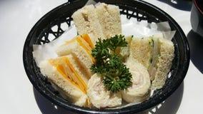 Japońskie herbat kanapki Zdjęcie Stock
