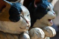 Japońskie kot statuy Obrazy Stock