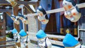 Japońskie tradycyjne maski fotografia stock