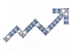 Japońskiego jenu zapasu mapa Obrazy Royalty Free