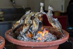 Japońskiego stylu piec na grillu ryba Zdjęcia Royalty Free