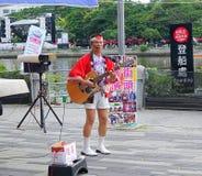 Japońskiego stylu ulicy muzyk Zdjęcie Stock