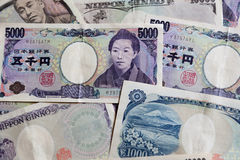 Japończyk 5000 jenów rachunek Obrazy Royalty Free