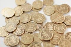 Japonés 500 monedas de los Yenes Foto de archivo