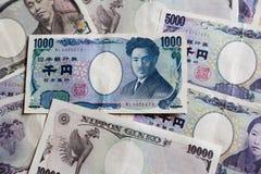 Japonés cuenta de 1000 yenes Foto de archivo