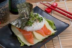 Japonés de color salmón del fodd Imágenes de archivo libres de regalías