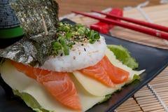 Japonés de color salmón del fodd Imagen de archivo libre de regalías