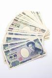 Japonés nota de 1000 bancos de los yenes imagen de archivo